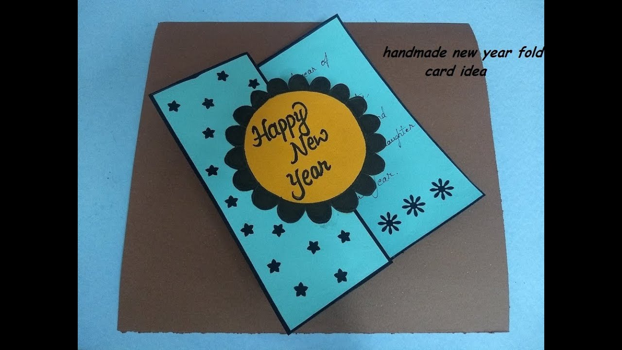handmade new year fold card idea complete tutorial