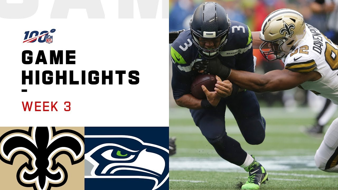 Saints vs. Seahawks Week 3 Highlights | NFL 2019