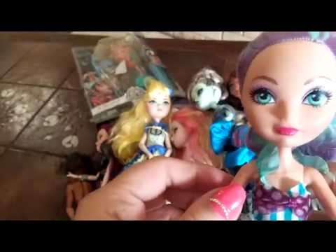 Распаковка посылки с куклами Монстер Хай и Эвер Афтер Хай из Америки. Продажа кукол