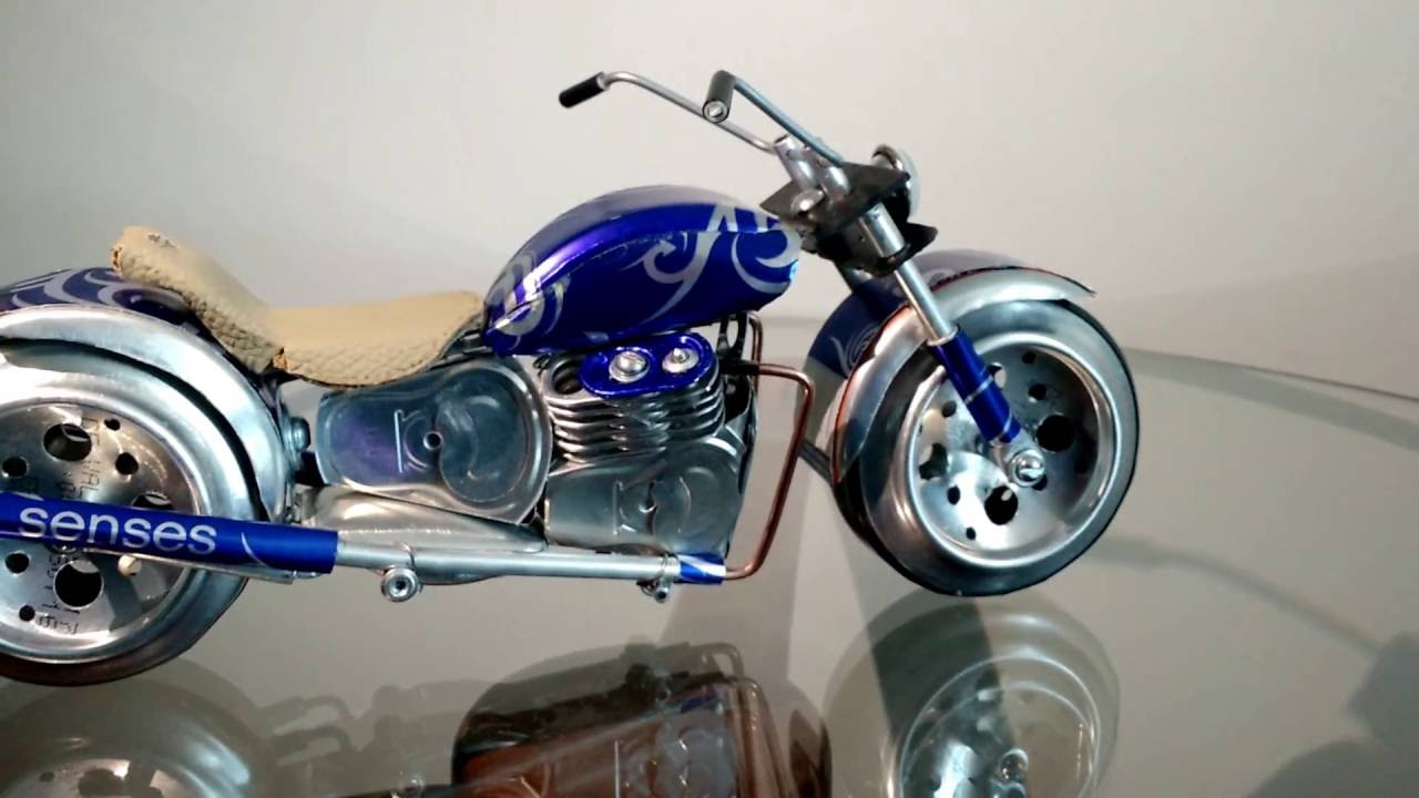 moto harley custom de latinha youtube. Black Bedroom Furniture Sets. Home Design Ideas