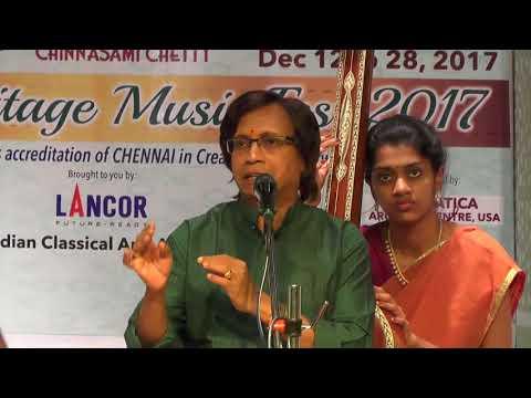 R.Suryaprakash l Carnatic Vocal  l Global Heritage Music Fest 2017 l Web Streaming
