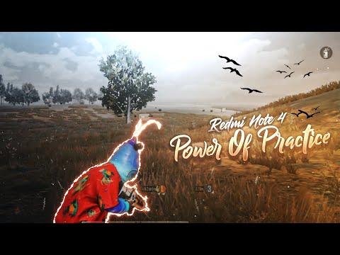 POWER OF PRACTICE | Redmi note 4 pubg montage | Gfx tool game play | TaiSON