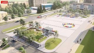 Studie podzemního parkoviště na nám. Svobody v Třinci pro 390 vozidel