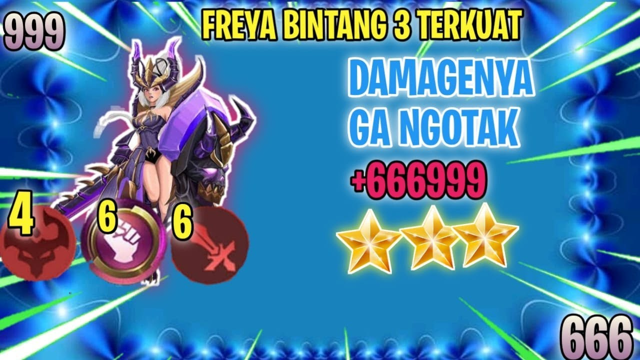 FREYA BINTANG 3 ⭐⭐⭐ + 6 WRESTLER + 6 WM + 4 ABYSS DAMAGENYA SAKIT BANGET - MAGIC CHESS INDONESIA