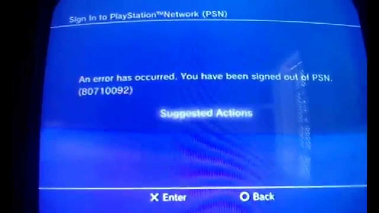 Image result for Error code 80710092 ps3