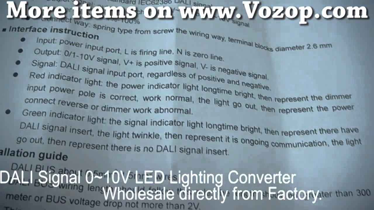 DALI Signal 0~10V LED Lighting Converter Dimmer Controller - YouTube