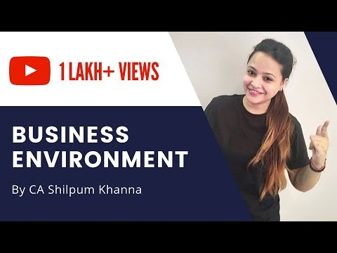 Business Environment for CA IPCC Strategic Management by CA Shilpum Khanna