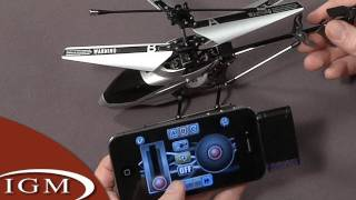 first look ihelicopter ios remote control toy kind of crashes and burns
