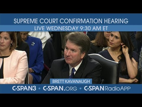 LIVE: Confirmation hearing for Supreme Court nominee Judge Brett Kavanaugh (Day 2)