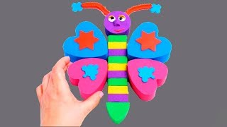 DIY Kinetic Sand Play Doh Learn Colors Numbers Alphabet Creative Education For Kids Coloring