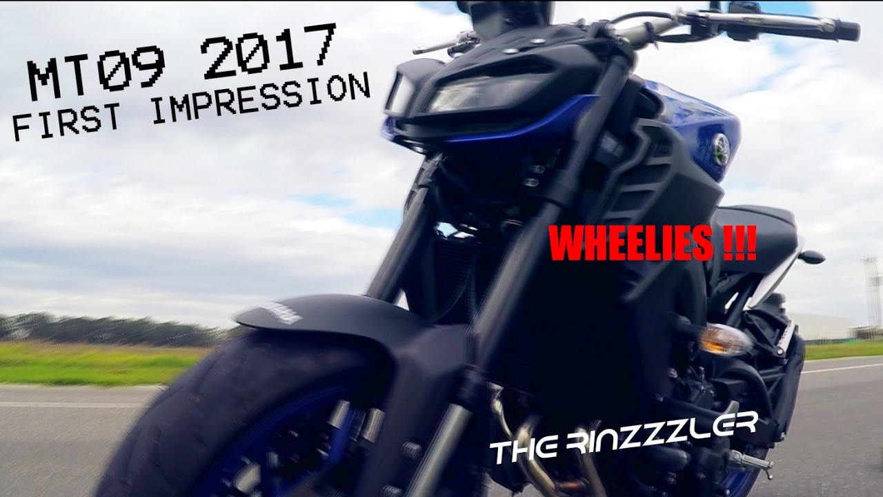 FIRST RIDE OF THE MT09\FZ09 2017 | Stock Quickshift | MT's4Lyf
