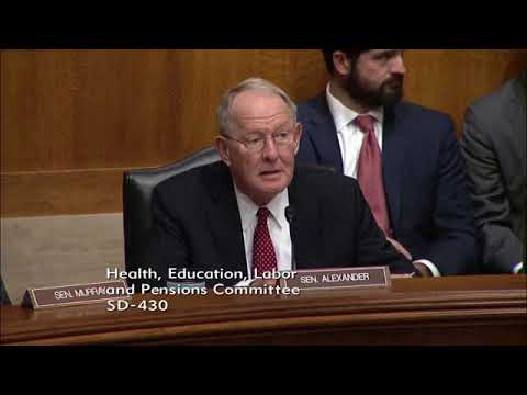 Hearing -  The U S  Senate Committee on Health, Education, Labor & Pensions