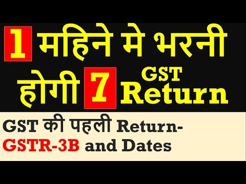 GST की पहली Return- GSTR-3B , महिने मे भरनी होगी 7 GST Returns by CA Mohit Goyal