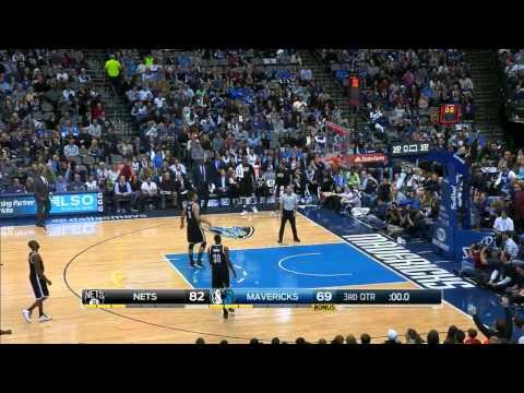 Devin Harris Half-Court Shot | Nets vs Mavericks | February 28, 2015 | NBA 2014-15 Season