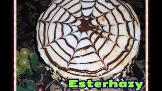 Esterhàzy cake.   Torta Esterhàzy. Торт Эстерхази.