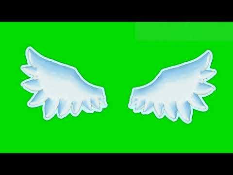 Анимация крыльев гача лайф / футаж крыльев на зелёном фоне / футаж гача лайф