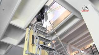 trappe de toit gorter avec escalier escamotable lectrique. Black Bedroom Furniture Sets. Home Design Ideas