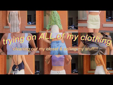 trying on EVERYTHING i own (cleaning out my closet + selling my clothes)