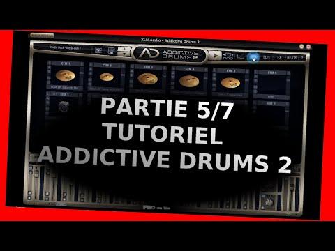 """Addictive Drums 2 - Tutoriel 5/7 - La page """"Edit"""" partie d'édition - XLNaudio - fr"""