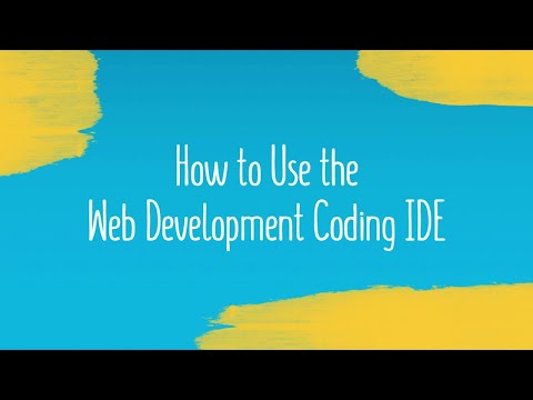 How to Use the Web Development Coding IDE