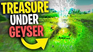 What Happens When Your TREASURE MAP ENDS ON A GEYSER? | Fortnite Mythbusters