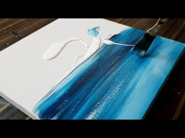 Making Of Easy Abstract Painting Sail Boat Seascape Acrylics Project 365 Days Day 0151