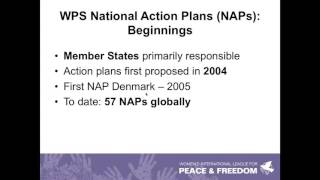 National Action Plans on Women, Peace and Security