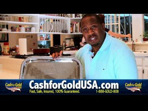 CASH FOR GOLD USA FUNNY GOLD COMMERCIAL - SELL DIAMONDS - STERLING SILVER - VALENTINES DAY