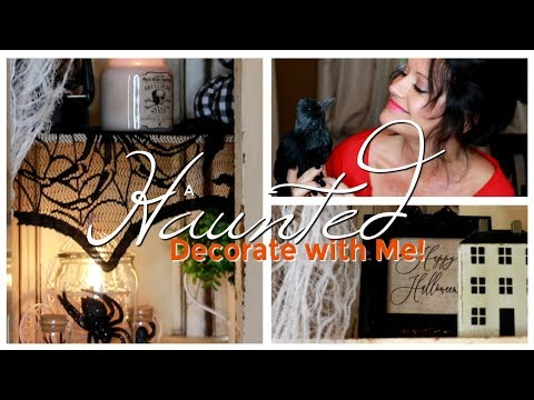 DECORATE WITH ME FALL 2019! SPOOKY DECORATING & DECOR IDEAS FOR HALLOWEEN AT HOME! 🦇
