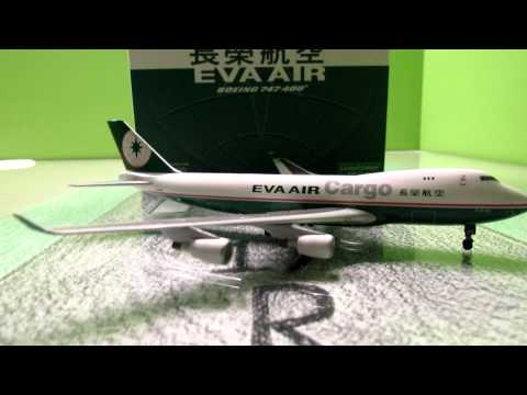Dragon Wings EVA Air Cargo Boeing 747-400F Unboxing