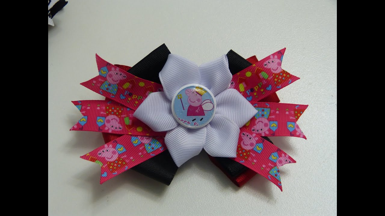 Hair clips how to make hair bows como hacer mo os para ni a youtube - Lazos en cinta ...