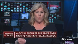 National Enquirer publisher given immunity over hush-money payment