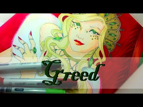 SEVEN DEADLY SINS SERIES- GREED -  Marker illustration