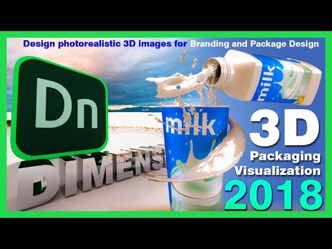 Adobe Dimension cc 2018 - Adding Decal to 3D Objects in Adobe Dimension cc by Digital Creations