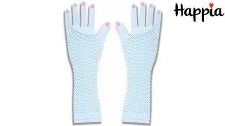 Белые перчатки в сеточку / Обзор
