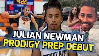 "Julian Newman Drops 16 Points & Gets EJECTED In PRODIGY PREP DEBUT! Ref Tells Him To ""SHUT UP"" 😳"