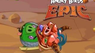 ЗЛЫЕ ПТИЧКИ РЫЦАРИ (ANGRY BIRDS EPIC). Смотрите прохождение игры Энгри Бердс Эпик - Бамбуковый Лес!!
