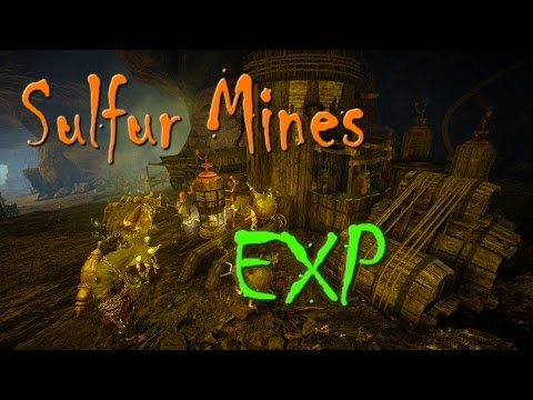 Black Desert Online - Round Sulfur Mines EXP And Rotations