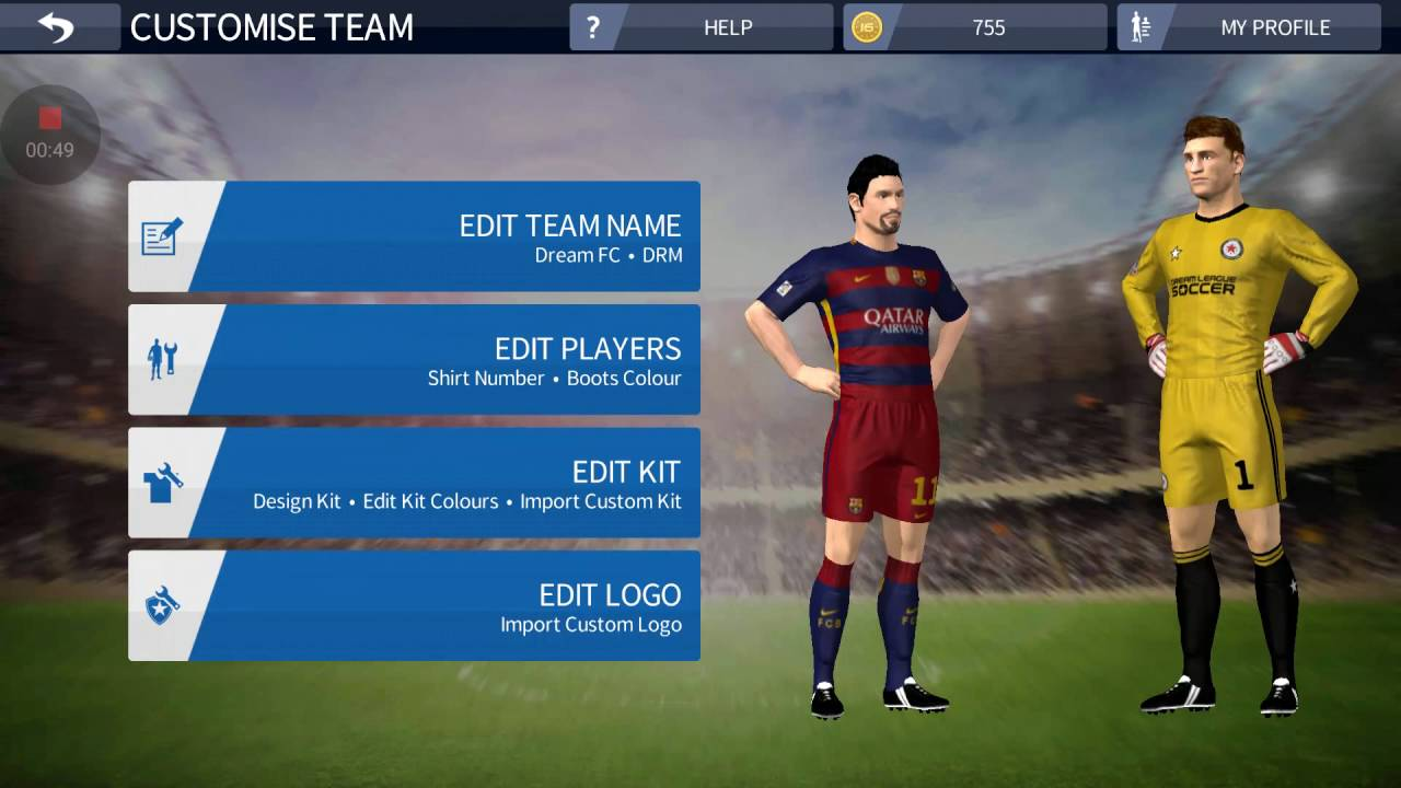 e23d00b1f Copy of Dream League Soccer 2016 How to Get Barcelona Kit And Logo Free -  YouTube