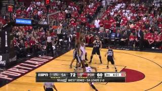 Tony parker scores 29 points, tim duncan adds 19 points as the spurs beat trail blazers and take a 3-0 lead in series.