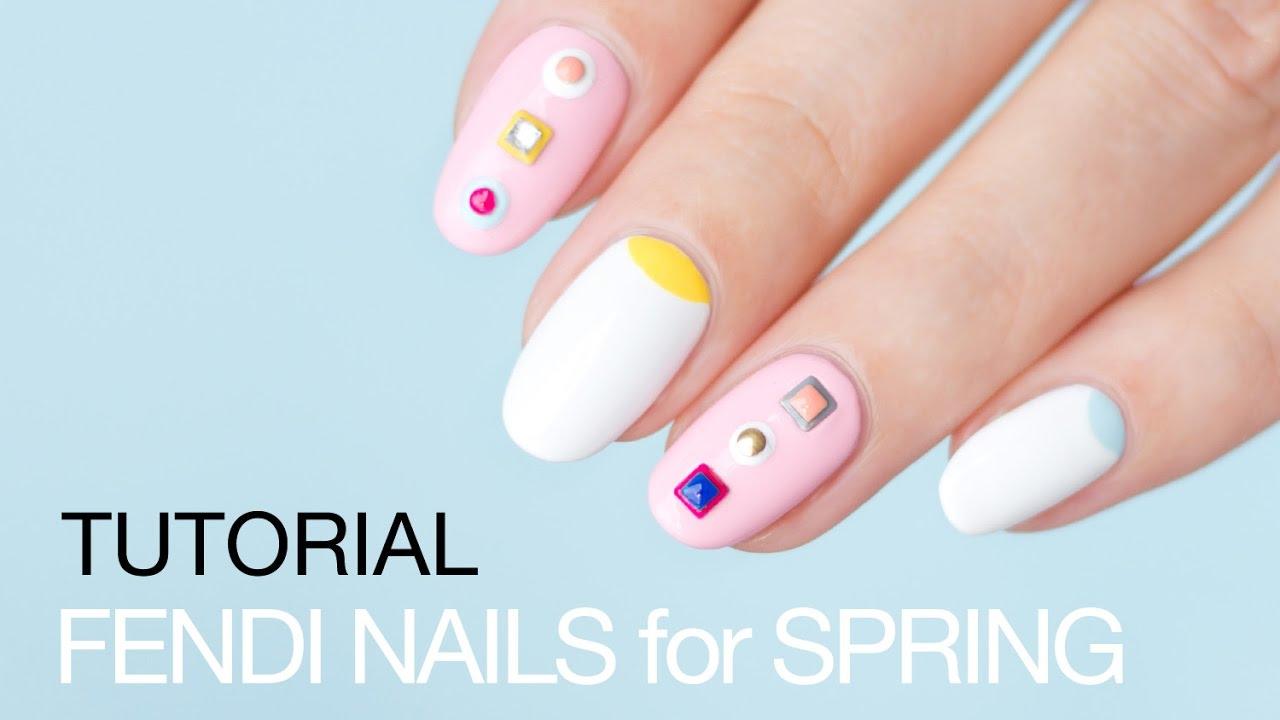 Fendi Spring Nail Art Tutorial Sonailicious Youtube