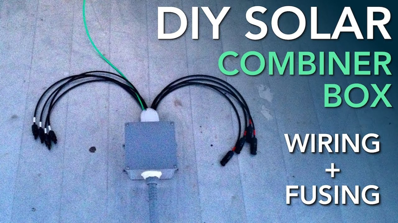 Wiring A Solar Combiner Box For An Rv Power System Panel Diagram