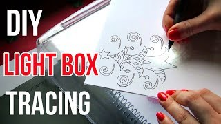DIY Light Box Tracing || Art Tips
