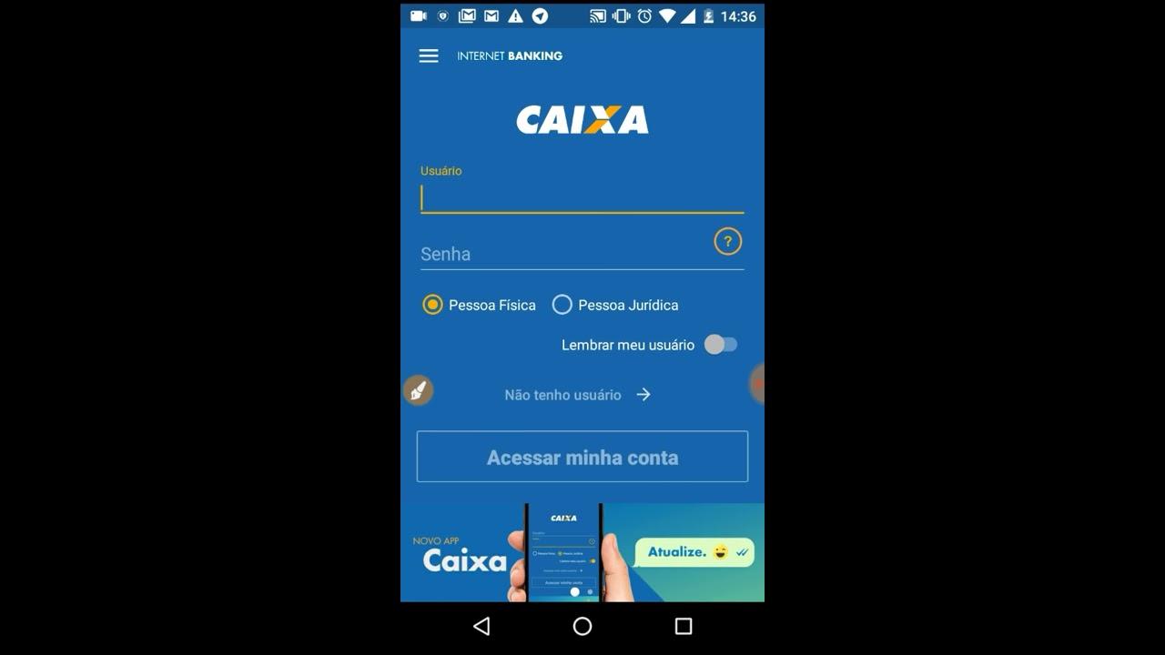 Cadastro Internet Banking Caixa Pelo Celular Android