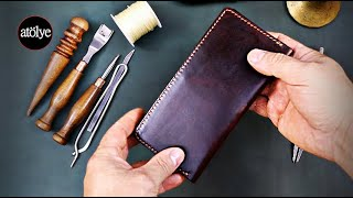handmade leather wallet | leather wallet slim | best mens wallet | leather craft