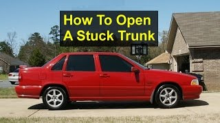 Open a stuck trunk: 5 - 15 ($0 / $45 / $150) In this video I open a...