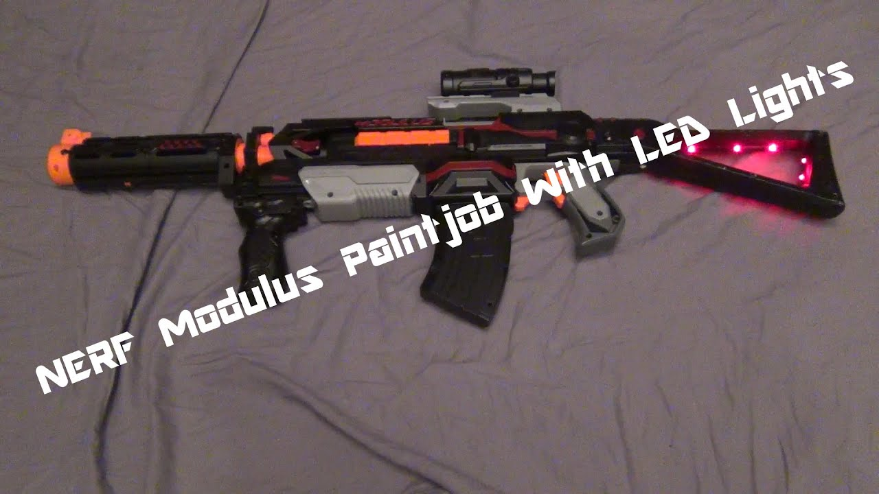 Nerf Modulus ECS 10 Paintjob with LED lights