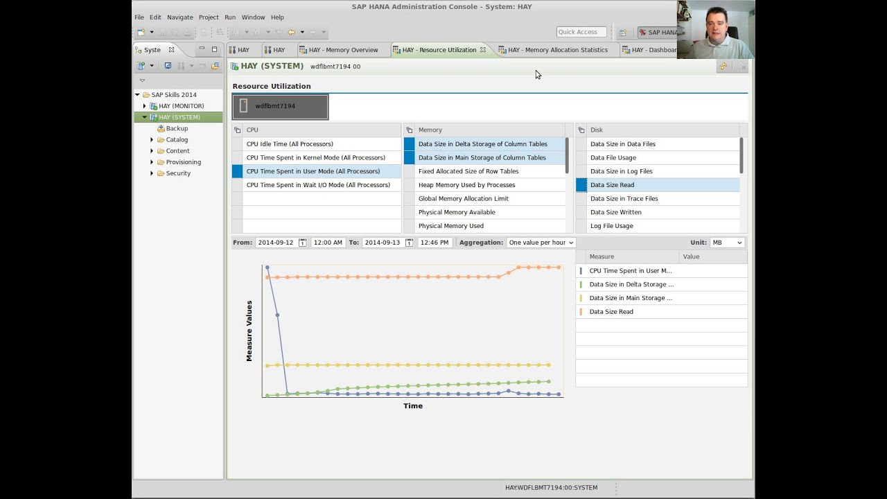 Monitoring SAP HANA using SAP HANA Studio