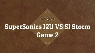 12U SuperSoncics vs SI Storm 3-8-20 Game 2