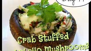 Trying Laura's Crab Stuffed Portobello Mushrooms [day 44]